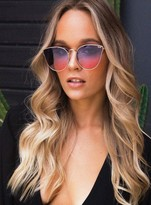 Quay All My Love Sunglasses Gold/Purple Pink