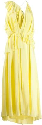 Victoria Beckham Asymmetric Ruffled Cami Dress
