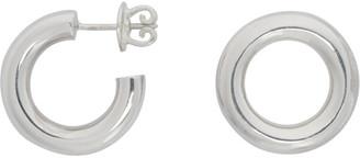 Numbering Silver Unbalanced Circle Earrings