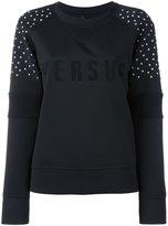 Versus studded detail logo sweatshirt