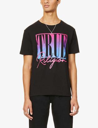 True Religion Graphic-print crewneck cotton-jersey T-shirt
