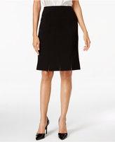 Kasper Petite Crepe Pleated Skirt