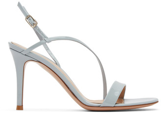 Gianvito Rossi Grey Manhattan 85 Heeled Sandals