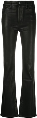 Paige Coated Bootcut Trousers