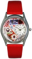 Whimsical Watches Women's S0310011 Coffee Lover Red Leather Watch