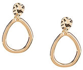 Anne Klein Hammered Drop Hoop Clip-On Earrings