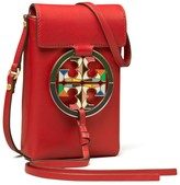 Tory Burch MILLER ENAMEL-LOGO PHONE CROSSBODY