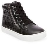 Stevies Girls' #SWEETIE High Top Sneakers - Black