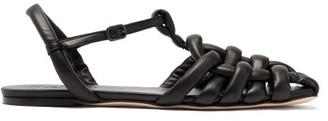 Hereu Cabersa Woven-leather Slingback Sandals - Black