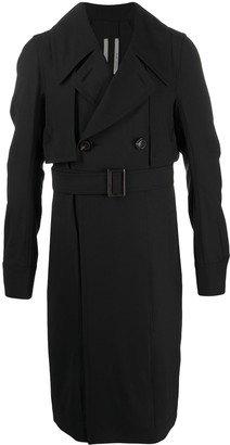 Rick Owens contrast panel knitted coat