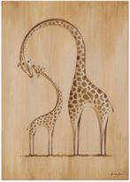 Oopsy Daisy Fine Art For Kids Safari Kisses Giraffe Canvas Wall Art