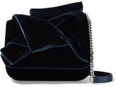 No.21 No. 21 Knot Leather-trimmed Velvet And Satin Shoulder Bag