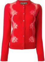 Dolce & Gabbana lace panel cardigan