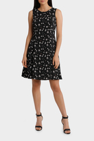 Basque Soft Fit And Flare Dress
