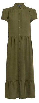 Dorothy Perkins Womens Khaki Smock Shirt Dress, Khaki