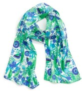 Echo Women's Painted Floral Silk Scarf