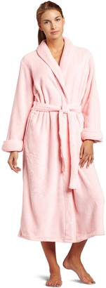 Casual Moments Womens 50 Inch Shawl Collar Set-in Belt Robe