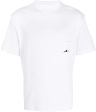 Anglozine mock neck pocket T-shirt