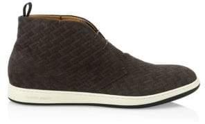 Giorgio Armani Classic Suede Sneakers