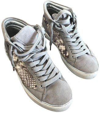 Michael Kors Grey Leather Trainers