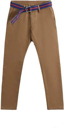 Hackett Stretch Cotton Chino Trousers With Belt
