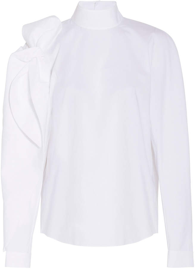 DELPOZO Bow Shoulder Shirt