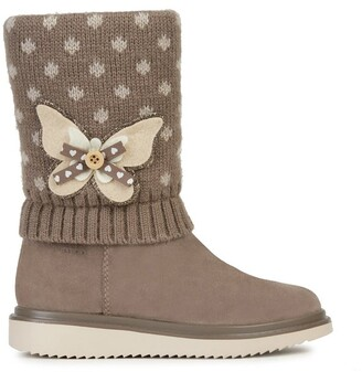 Geox Kids' Thymar Boots in Suede Mix