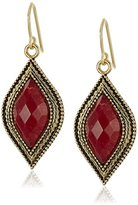 "Barse Cleopatra"" Bronze and Faceted Bordeaux Quartz French Wire Drop Earrings"