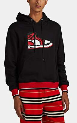 Mostly Heard Rarely Seen 8-Bit Men's Chicago Sneaker Cotton French Terry Hoodie - Black