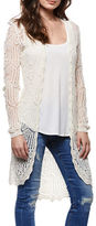 Dex Crochet Open Front Cardigan