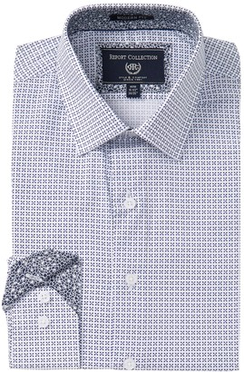 Report Collection X-Print Stretch Modern Fit Dress Shirt