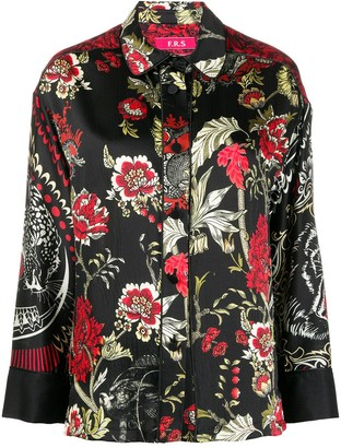 F.R.S For Restless Sleepers Floral-Print Silk Shirt