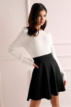 Lipsy Skater Skirt - 6 - Black