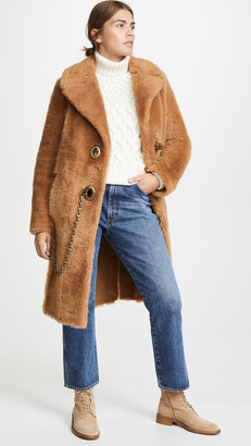 Coach 1941 Long Shearling Coat