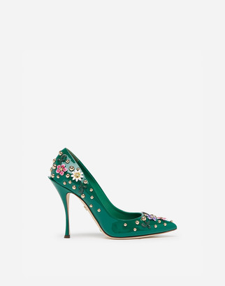 Dolce & Gabbana Patent Leather Pumps With Embroidery