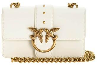 Pinko Love Mini Icon Simply 4 C White Crossbody Bag