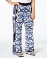 INC International Concepts Plus Size Printed Soft Pants, Created for Macy's