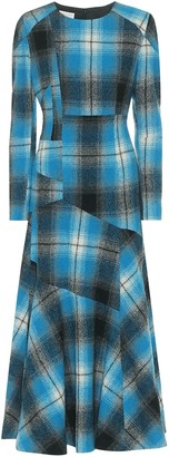Dries Van Noten Plaid wool maxi dress