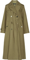 Joseph Cotton-twill Trench Coat - Army green