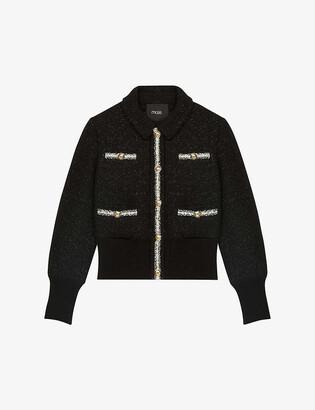 Maje Bloppy boucle cropped jacket