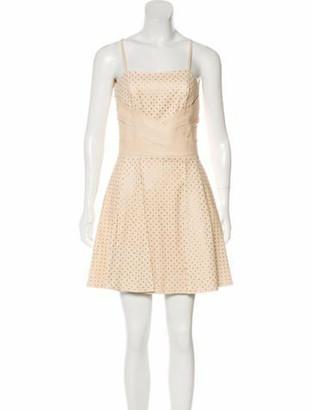 Jitrois Leather A-Line Mini Dress w/ Tags gold