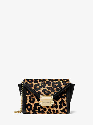MICHAEL Michael Kors Whitney Mini Leopard-Print Calf Hair Convertible Crossbody Bag