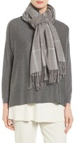 Eileen Fisher Sparkle Plaid Scarf