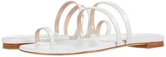 Stuart Weitzman Leonita Slide (India Pink Metallic Nappa) Women's Shoes