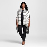 Women's Plus Size Chevron Stripe Sweater Vest Cream - Merona