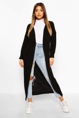 boohoo Knitted Maxi Cardigan
