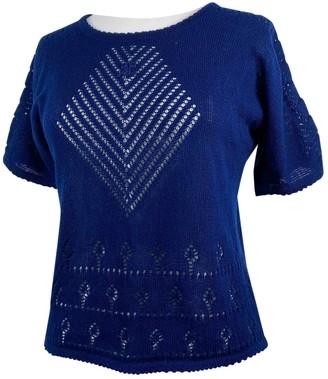 Courreges Navy Cotton Top for Women Vintage