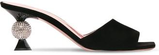 Roger Vivier 65mm Vivier Marlene Suede Sandals