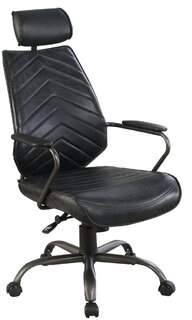 Wrought Studio Gottberg Genuine Leather Task Chair Wrought Studio Upholstery: Antique Black