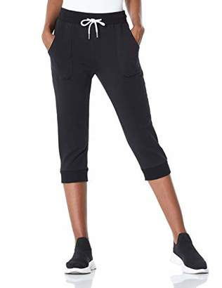 7GOALS Capri Pants for Women French Terry Lounge Capri Sweatpants with Pockets